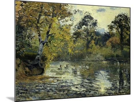 The Pond at Montfoucault; L'Etang De Montfoucault, 1874-Camille Pissarro-Mounted Giclee Print