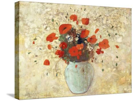 Vase of Poppies; Vase De Coquelicots, 1905-09-Odilon Redon-Stretched Canvas Print