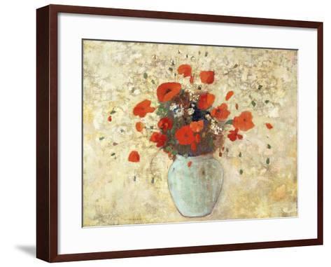 Vase of Poppies; Vase De Coquelicots, 1905-09-Odilon Redon-Framed Art Print
