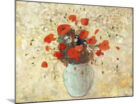 Vase of Poppies; Vase De Coquelicots, 1905-09-Odilon Redon-Mounted Giclee Print