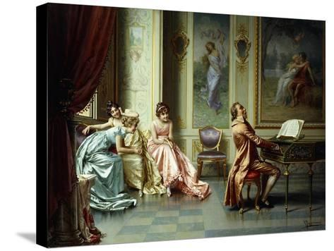 The Afternoon Concert - Out of Tune-Vittorio Reggianini-Stretched Canvas Print