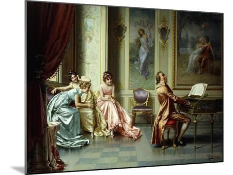 The Afternoon Concert - Out of Tune-Vittorio Reggianini-Mounted Giclee Print