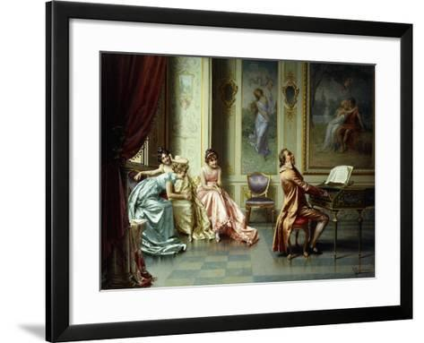 The Afternoon Concert - Out of Tune-Vittorio Reggianini-Framed Art Print
