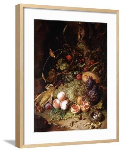 Still-Life with Fruit and Insects-Rachel Ruysch-Framed Art Print