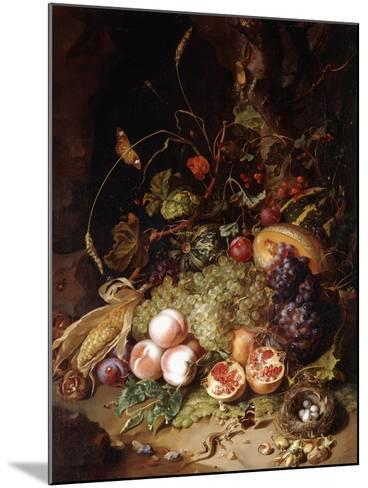 Still-Life with Fruit and Insects-Rachel Ruysch-Mounted Giclee Print