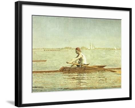 John Biglin in a Single Scull, 1873-Thomas Cowperthwait Eakins-Framed Art Print