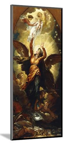 The Woman Clothed with the Sun Fleeth from the Persecution of the Dragon'-Benjamin West-Mounted Giclee Print