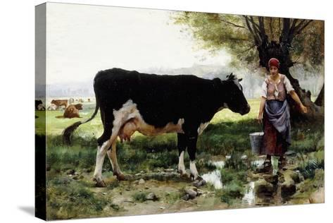 A Milkmaid with Her Cow-Julien Dupre-Stretched Canvas Print
