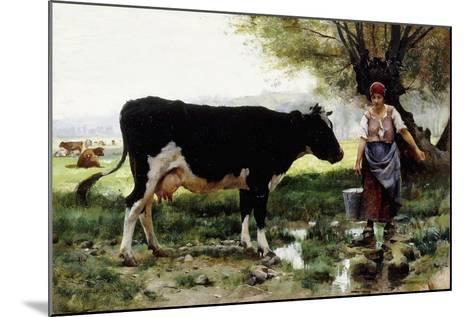 A Milkmaid with Her Cow-Julien Dupre-Mounted Giclee Print
