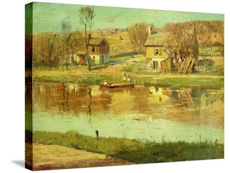 Reflections in the Water, C.1895-1919-Willard Leroy Metcalf-Stretched Canvas Print