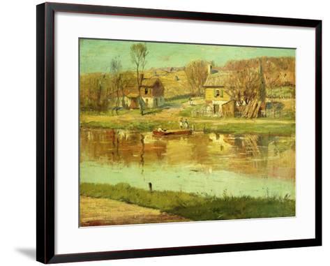Reflections in the Water, C.1895-1919-Willard Leroy Metcalf-Framed Art Print