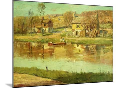 Reflections in the Water, C.1895-1919-Willard Leroy Metcalf-Mounted Giclee Print