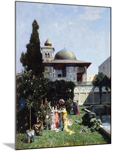 A Corner in the Garden of the Harem; Un Angolo De Giardino Dell'Harem, 1877-Alberto Pasini-Mounted Giclee Print