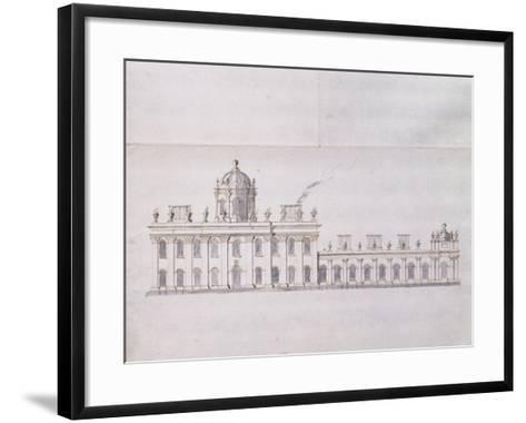 Castle Howard, Yorkshire: a Schematic Pencil Sketch Showing the Development of the Forecourt…-Sir John Vanbrugh-Framed Art Print
