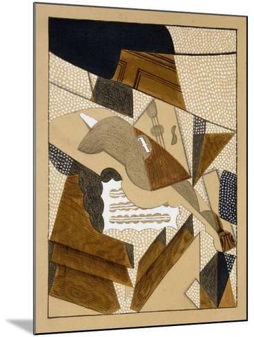 Le Violon, C.1915-1916-Juan Gris-Mounted Giclee Print