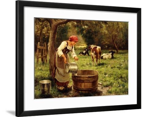 Tending the Cows-Julien Dupre-Framed Art Print