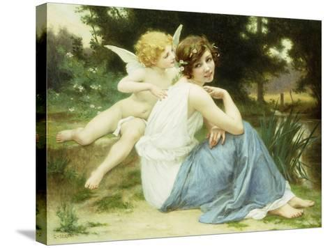 Love's Whisper-Guillaume Seignac-Stretched Canvas Print