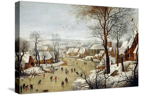 The Birdtrap-Pieter Brueghel the Younger-Stretched Canvas Print