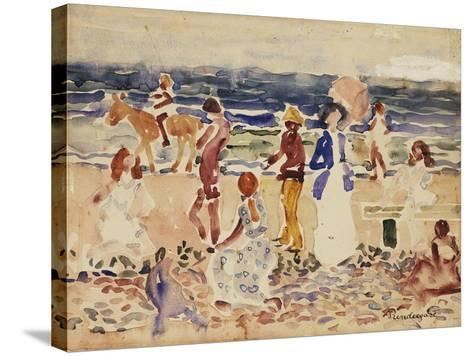 On the Beach, C.1920-23-Maurice Brazil Prendergast-Stretched Canvas Print