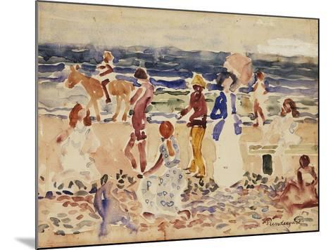 On the Beach, C.1920-23-Maurice Brazil Prendergast-Mounted Giclee Print