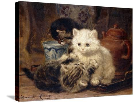 Afternoon Tea-Henriette Ronner-Knip-Stretched Canvas Print