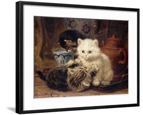 Afternoon Tea-Henriette Ronner-Knip-Framed Art Print