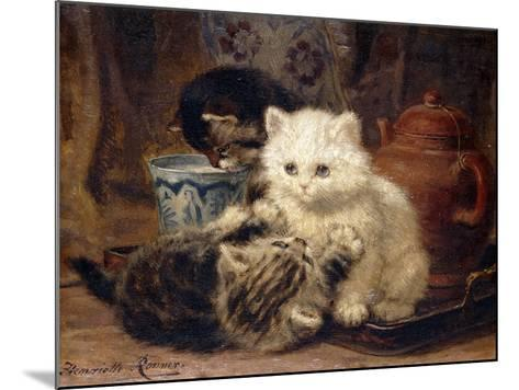 Afternoon Tea-Henriette Ronner-Knip-Mounted Giclee Print