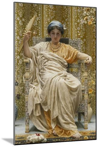 A Revery- a Look of Sadness on a Restful Face - She Hath No Cares - a Thing Hereditary in the…-Albert Joseph Moore-Mounted Giclee Print