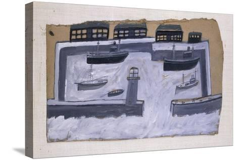 Houses and Ships-Alfred Wallis-Stretched Canvas Print