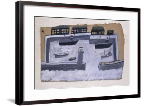 Houses and Ships-Alfred Wallis-Framed Art Print