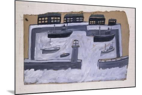Houses and Ships-Alfred Wallis-Mounted Giclee Print