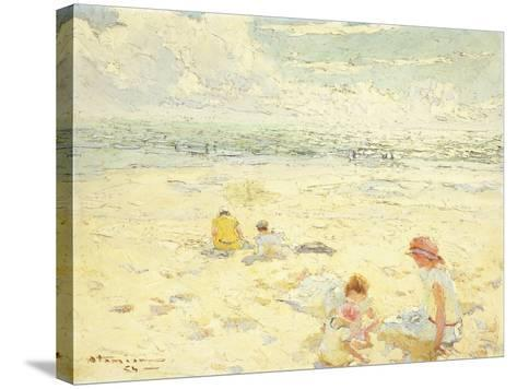The Beach; La Plage-Charles-Garabed Atamian-Stretched Canvas Print