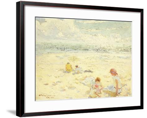 The Beach; La Plage-Charles-Garabed Atamian-Framed Art Print