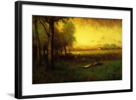 Cows Grazing at Sunset-George Snr^ Inness-Framed Art Print