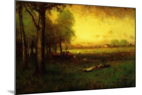 Cows Grazing at Sunset-George Snr^ Inness-Mounted Giclee Print