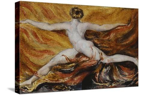 Oh! Flames of Furious Desires: Plate 3 of Urizen, 1796-William Blake-Stretched Canvas Print