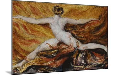 Oh! Flames of Furious Desires: Plate 3 of Urizen, 1796-William Blake-Mounted Giclee Print