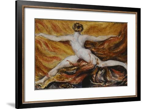 Oh! Flames of Furious Desires: Plate 3 of Urizen, 1796-William Blake-Framed Art Print