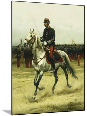 A Cavalry Officer Passing Troops, 1885-Jean-Baptiste Edouard Detaille-Mounted Giclee Print