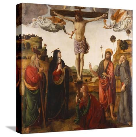 The Crucifixion with the Madonna, Saints John the Baptist, Mary Magdalen, Andrew and Francis, 1503-Cosimo Rosselli-Stretched Canvas Print