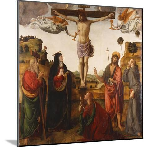 The Crucifixion with the Madonna, Saints John the Baptist, Mary Magdalen, Andrew and Francis, 1503-Cosimo Rosselli-Mounted Giclee Print