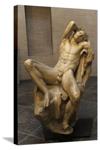 Barberini Faun. a Sleeping Satyr. About 220 BC. Greek Baroque. Roman Copy. Glyptothek. Munich--Stretched Canvas Print