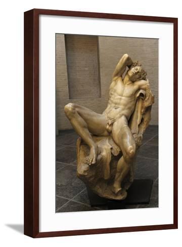 Barberini Faun. a Sleeping Satyr. About 220 BC. Greek Baroque. Roman Copy. Glyptothek. Munich--Framed Art Print