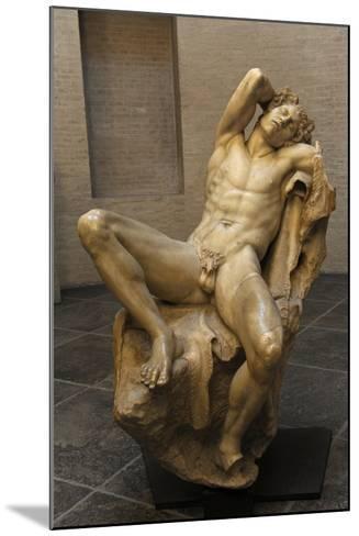 Barberini Faun. a Sleeping Satyr. About 220 BC. Greek Baroque. Roman Copy. Glyptothek. Munich--Mounted Giclee Print