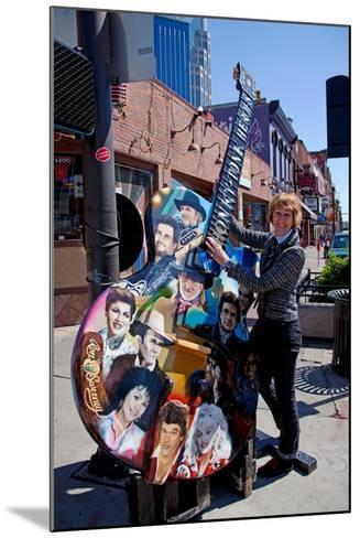 Tourist on Main Street in Nashville Tennessee--Mounted Photographic Print