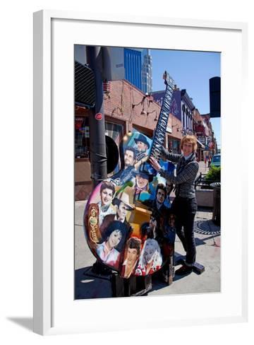 Tourist on Main Street in Nashville Tennessee--Framed Art Print