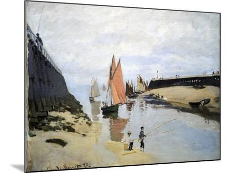 Breakwater at Trouville, Low Tide, 1870-Claude Monet-Mounted Giclee Print