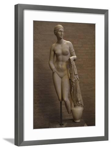 Aphrodite of Cnidus. Roman Statue. 1st Century BC--Framed Art Print