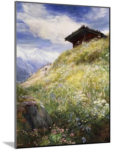 An Alpine Meadow, Switzerland-John MacWhirter-Mounted Giclee Print
