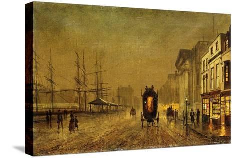 Liverpool Docks-John Atkinson Grimshaw-Stretched Canvas Print